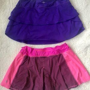 Lululemon & Athleta running athletic skirt / skort